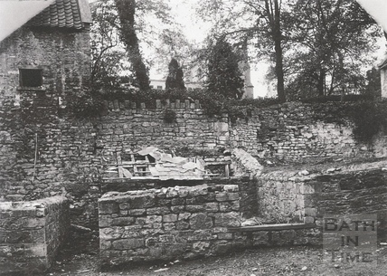 Site of demolished house on How Hill, Twerton c.1903