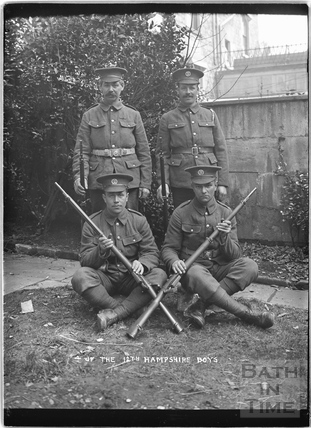 4 of the Boys, 12th Hants, Bath, c.April 1915