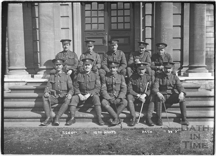 Sergeants, 12th Hants, Bath No.24 c.April 1915