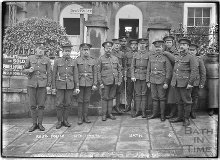 Regimental Police, 12th Hants, 2 Dunsford Place, Bathwick Hill, Bath No.5 c.April 1915