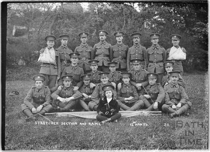 Stretcher Section and Ram C, 12th Hants, Bath No.35 c.April 1915