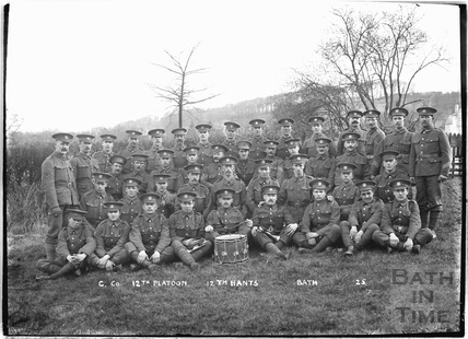 C. Co. 12 Platoon, 12th Hants, Bath No.12 c.April 1915