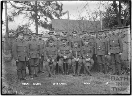 Regimental Police, Sergeants, 12th Hants, Bath No.16 c.April 1915
