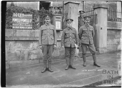 12th Hants, Bath No.1, 10 Dunsford Place, Bathwick Hill, 1 c.April 1915