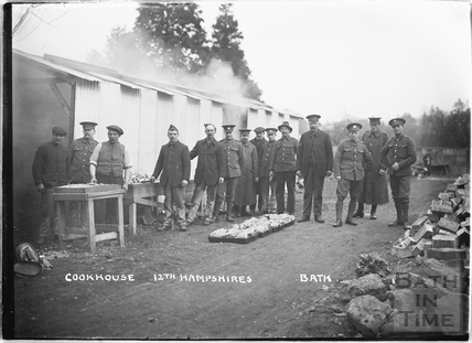 Cookhouse, 12th Hants, Bath No.1 c.April 1915