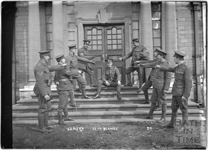 Sergeants, 12th Hants, Bath No.26 c.April 1915