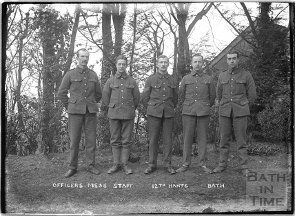 Officer's Mess Staff, 12th Hants, c.April 1915