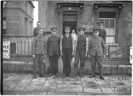 D. Co. Sgt. Turner's Boys, 12th Hants, 2 Adelaide Place, Darlington Place, Bath No.7 c.April 1915