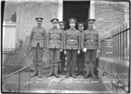 C. Co. Orderly Corporal an staff, 12th Hants, Bath No.9 c.April 1915