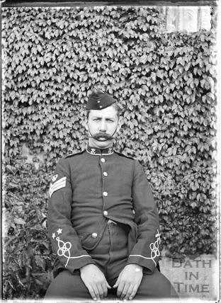 Uniformed man, probably Sgt Fudge c.1915
