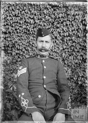Uniformed man, probably Sgt Fudge c.1915