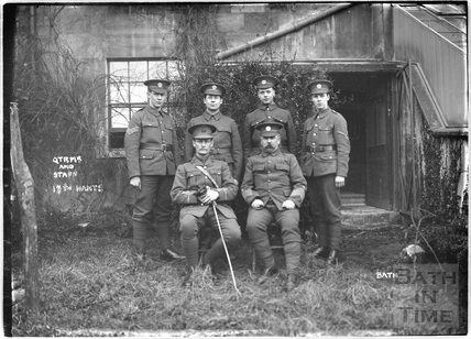 Qtr Mtr (Quarter Master?) and Staff, 12th Hants, Bath, c.April 1915