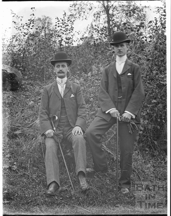Two smartly dressed men in bowler hats c.1910
