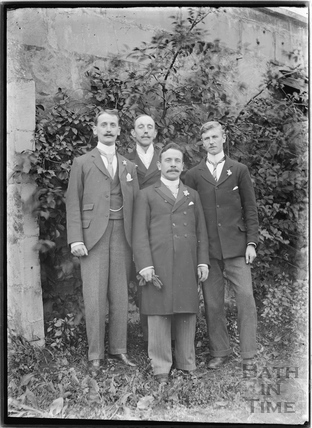 Four very smartly dressed men c.1910