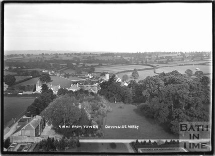 View from the Tower, Downside Abbey, Stratton-on-the-Fosse, Somerset, c.1935