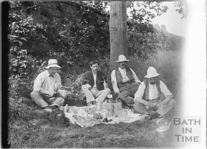 Picnic at Warleigh River c.1910