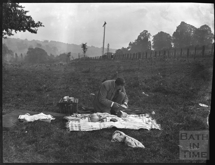 Preparing the picnic at Warleigh c.1900