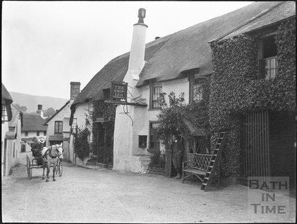 The Ship Inn in Porlock c.1900