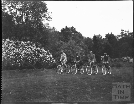 The photographer and his chums on their bicycles c.1900