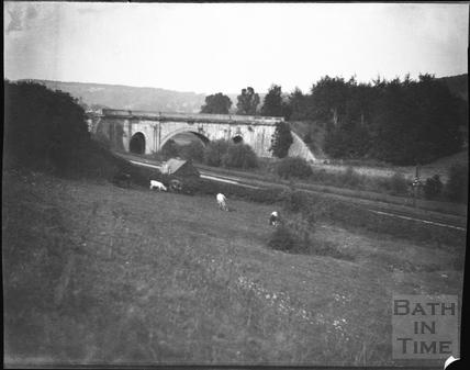 Dundas Aqueduct, Monkton Combe, c.1920