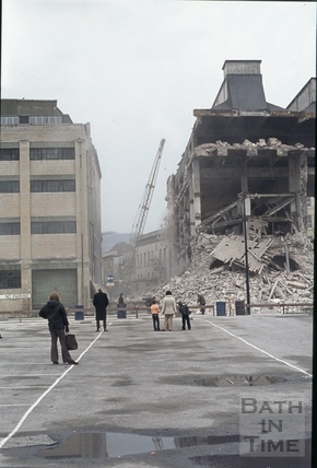 Somerset Street demolition, date unknown