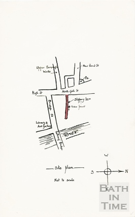 Slippery Lane, Northgate Street, site plan to sketch 3 May 1964
