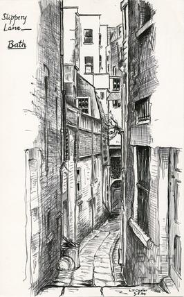 Slippery Lane, Northgate Street, 3 May 1964