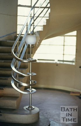 Kilowatt House, North Road, Bath stair & lamp, (interior), c.1974