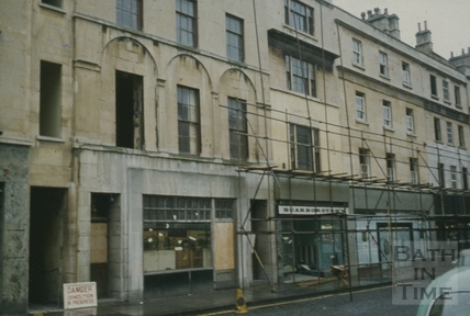 Southgate Street, Bath looking south east from Sainsbury's Oct 1971