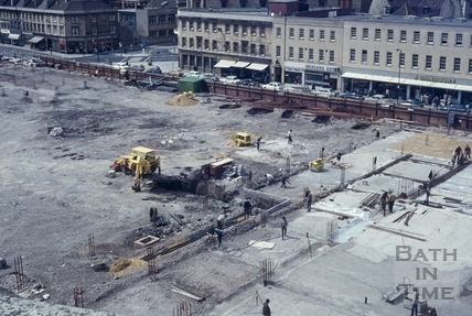 Southgate site cleared, 1972