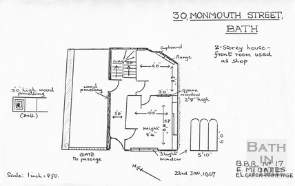 30 Monmouth Street floor plan, 22 January 1967