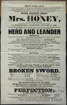 Playbill at Theatre Royal, Bath for Wednesday January 2 1839