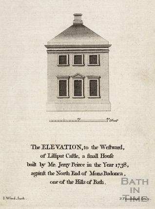 The Elevation, to the Westward of Lilliput Castle, a small House built by Mr Jerry Peirce in 1738