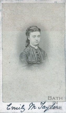 Emily Marian Taylor, wife of Jonathan Carr of Wood House, Twerton c.1874