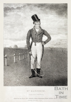 Mr Margerum, Clerk of the Bath Races c.1830?