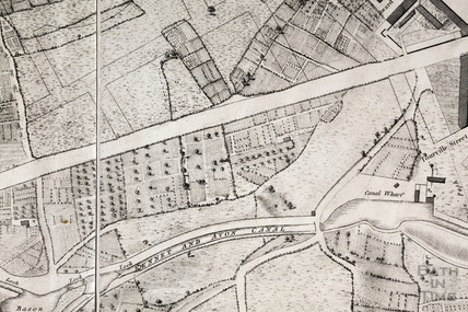 Charles Harcourt Masters Map, Pulteney Road area 1808 - detail