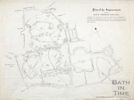 Plan of the Improvements on the Bath Common Estate (Royal Victoria Park), Edward Davis 1829