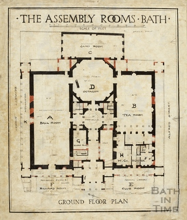 Assembly Rooms (ground floor plan) 1933/4?