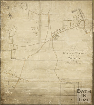 Map of an estate in the Parish of Lyncombe and Widcombe, the Property of Mrs. Suzanna Attwood (Bear Flat) 1813