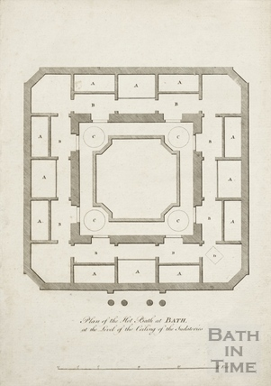 The Plan of the Hot Bath at Bath by John Wood Jr (source of plans #43 & 44) 1777