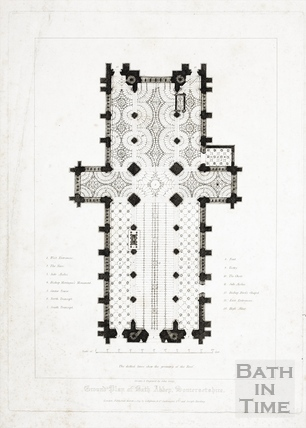 Ground Plan of Bath Abbey, 1819