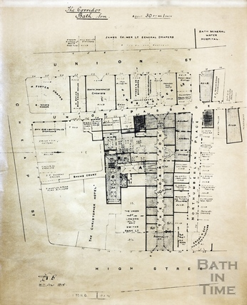 The Corridor and Northumberland Place (street plan) 1916