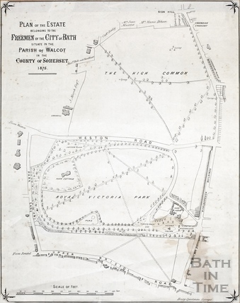 Plan of Freeman's Estate (Bath Commons - Royal Victoria Park) 1875
