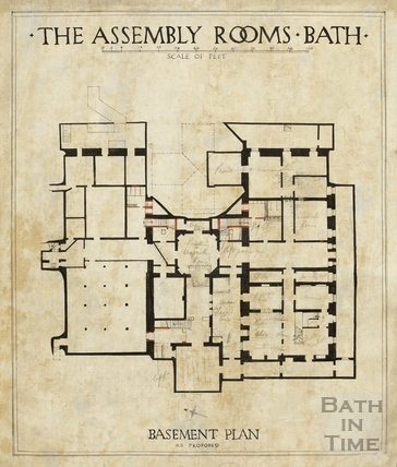 Assembly Rooms (basement plan as proposed) 1933/4?