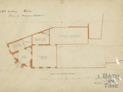Victoria Art Gallery Plan of Museum Space (ground floor plan) May 1897