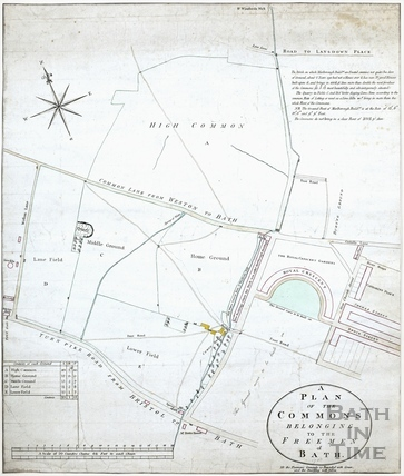 Plan of the Commons belonging to the Freemen of Bath (Royal Victoria Park) c.1788