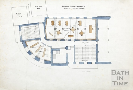 Plan of Technical Schools (basement) - Library extension 1932