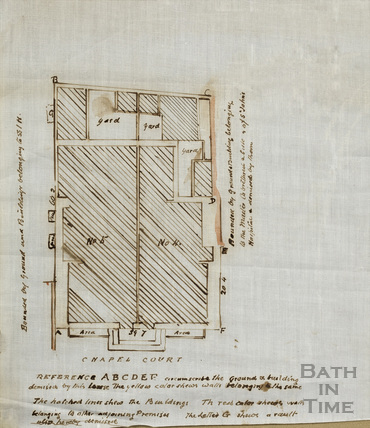 Plan of buildings in St John's Hospital off Chapel Court [e.19thC?]