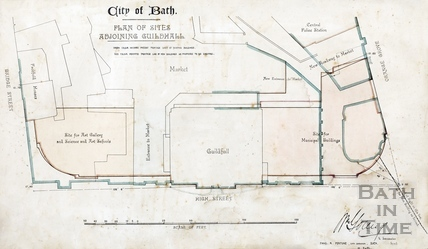 Plan for sites adjoining the Guildhall (Technical Schools) 14 March 1891