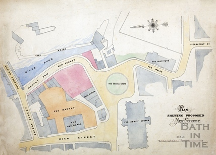 Plan showing proposed new street (Grand Parade) 1890s